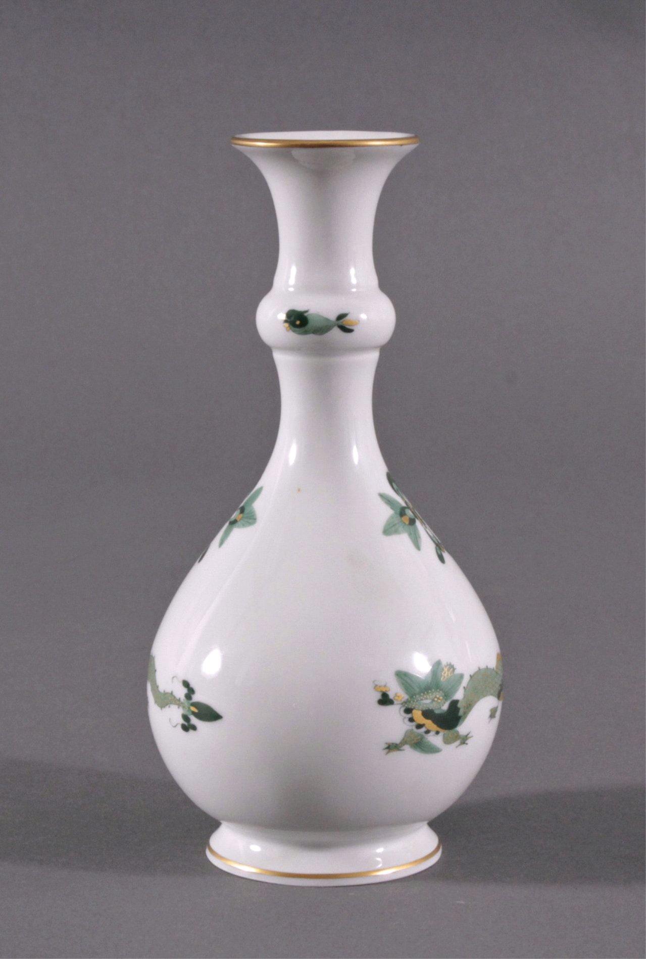 """Meissen Vase """"Grüner Reicher Drache"""" 1. Hälfte 20. Jh.-1"""