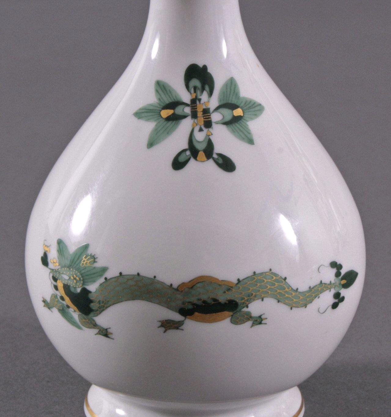 """Meissen Vase """"Grüner Reicher Drache"""" 1. Hälfte 20. Jh.-2"""