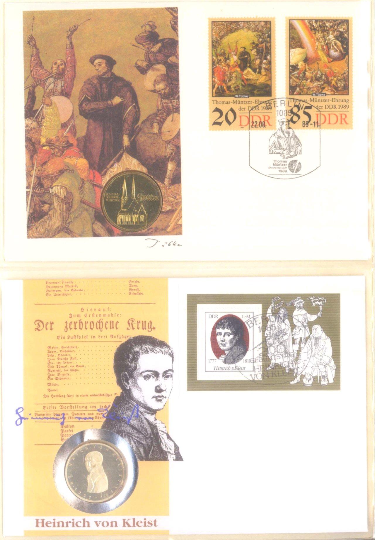 Sammlung Borek Numisbriefe im Ringbinder-1