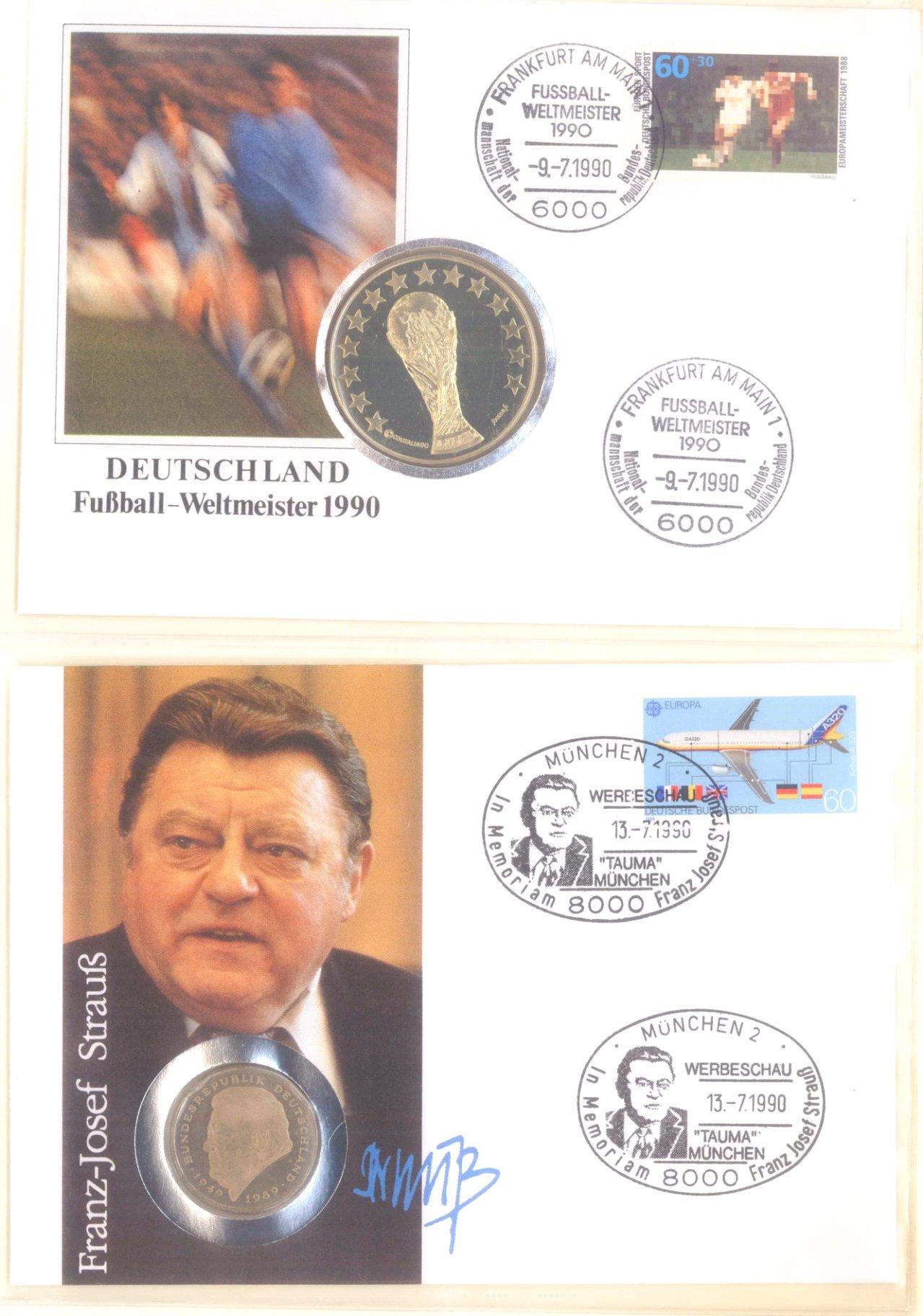 Sammlung Borek Numisbriefe im Ringbinder-2
