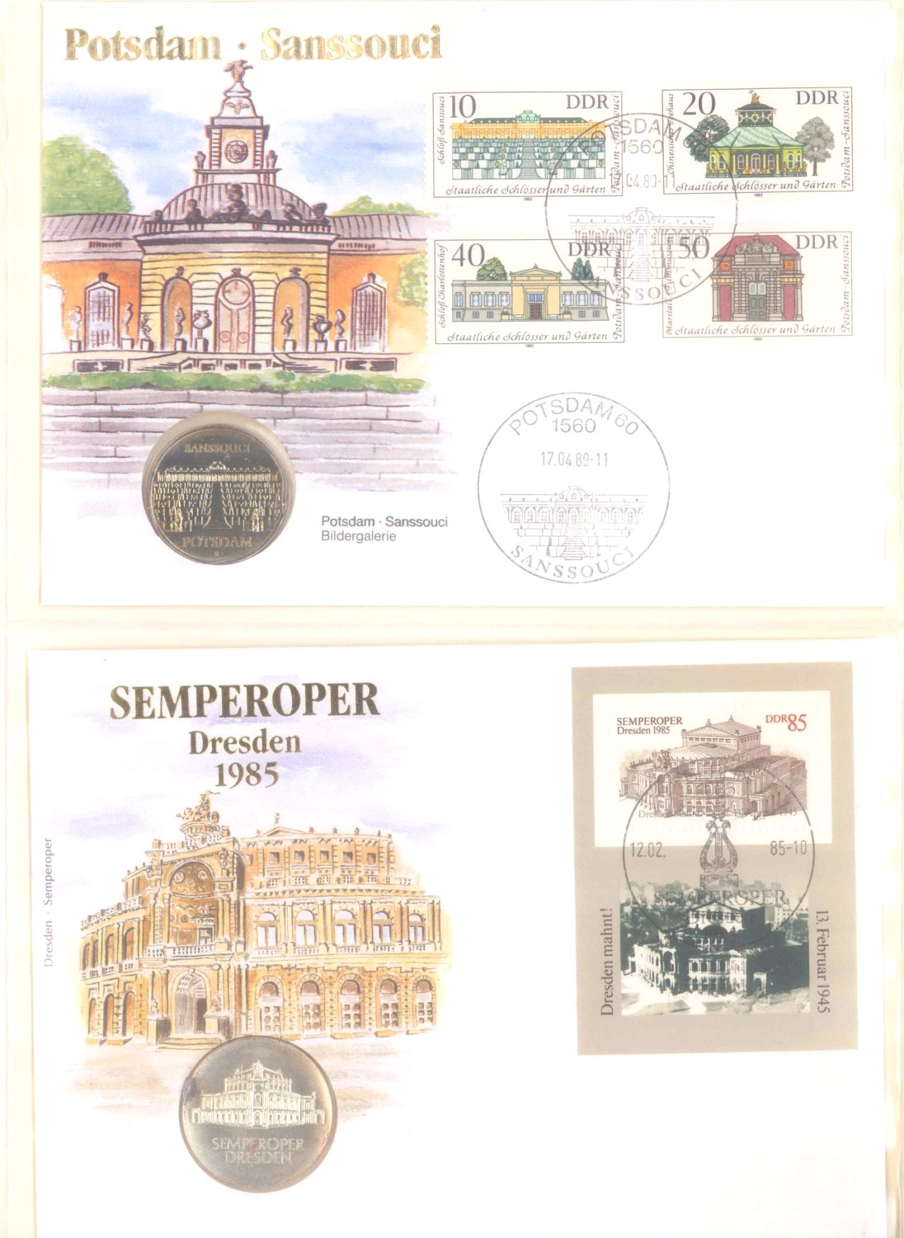 Sammlung Borek Numisbriefe im Ringbinder-3
