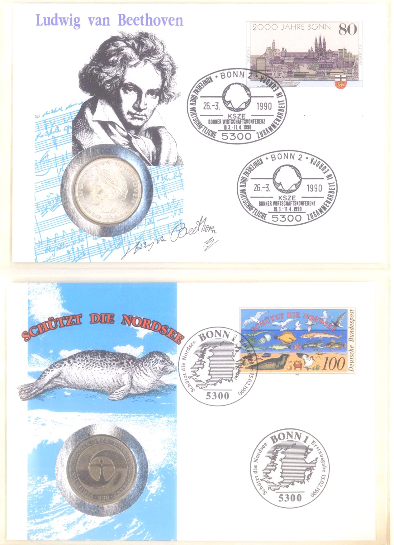 Sammlung Borek Numisbriefe im Ringbinder-6