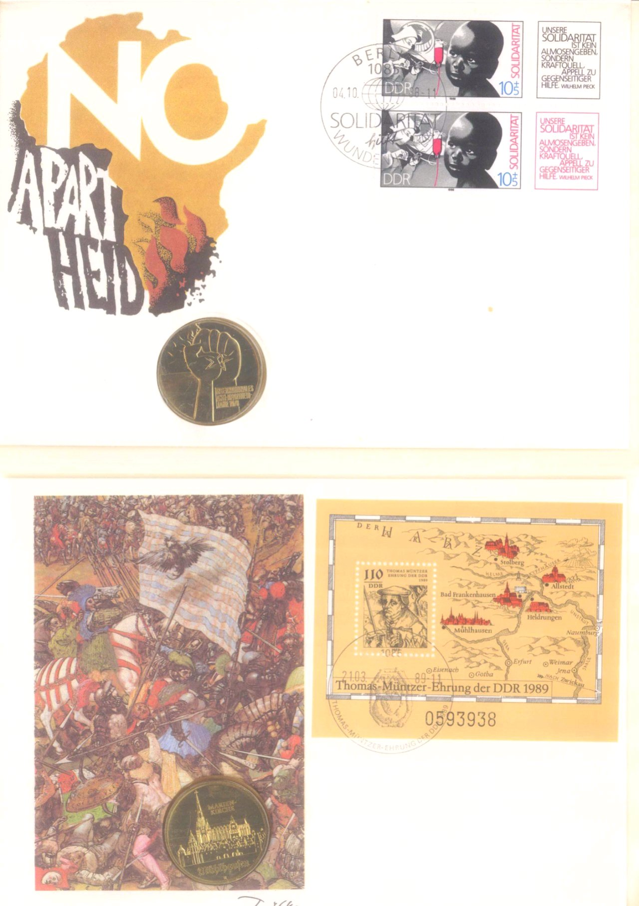 Sammlung Borek Numisbriefe im Ringbinder-8