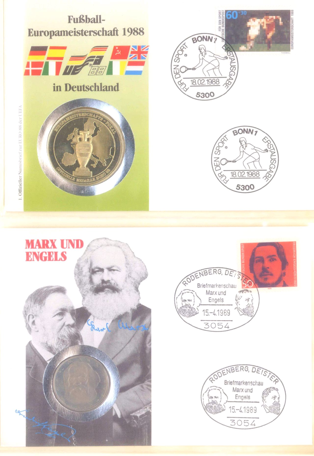 Sammlung Borek Numisbriefe im Ringbinder-14