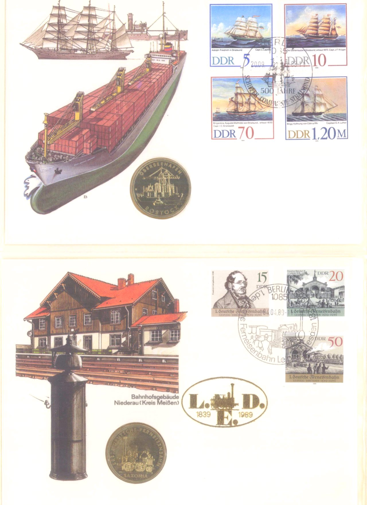 Sammlung Borek Numisbriefe im Ringbinder-16