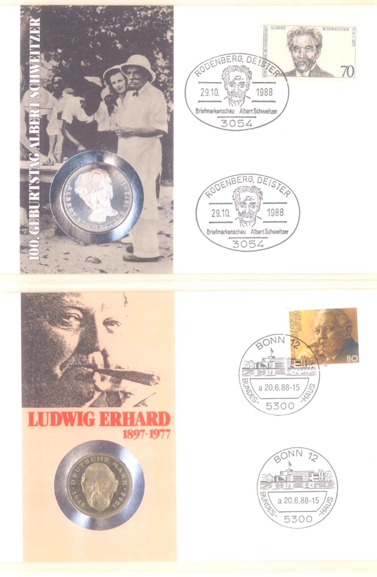 Sammlung Borek Numisbriefe im Ringbinder-18