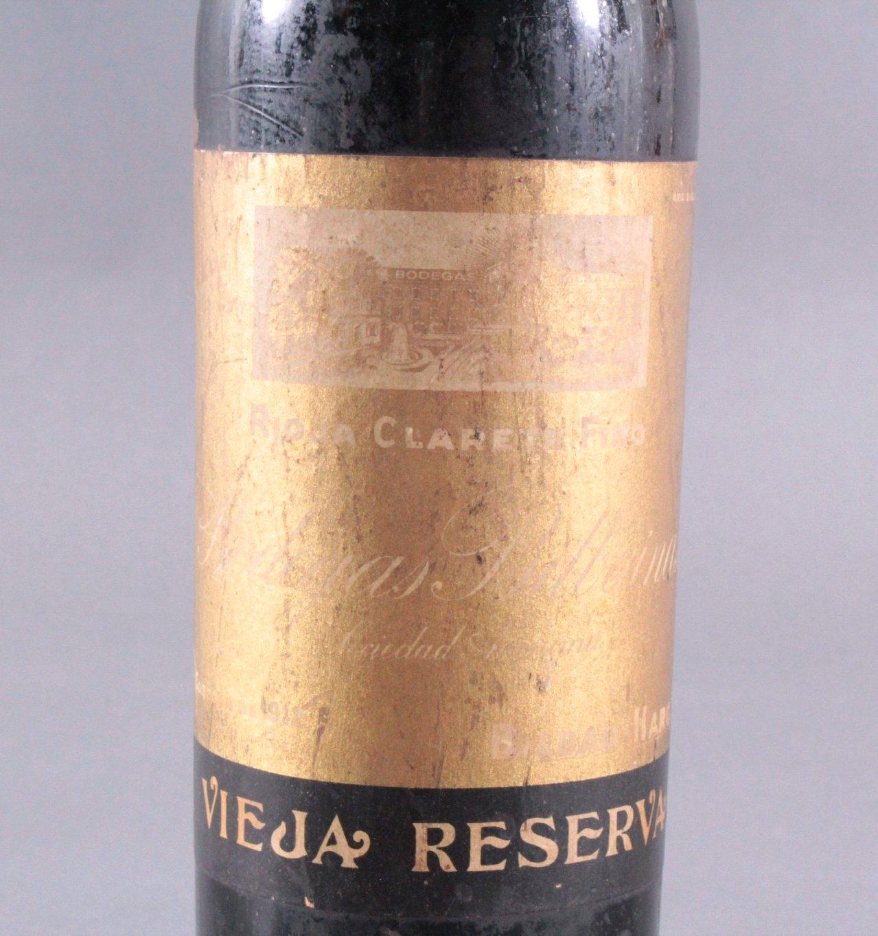 Rotwein, Vieja Reserva, Rioja Clarete Fino 1912-2