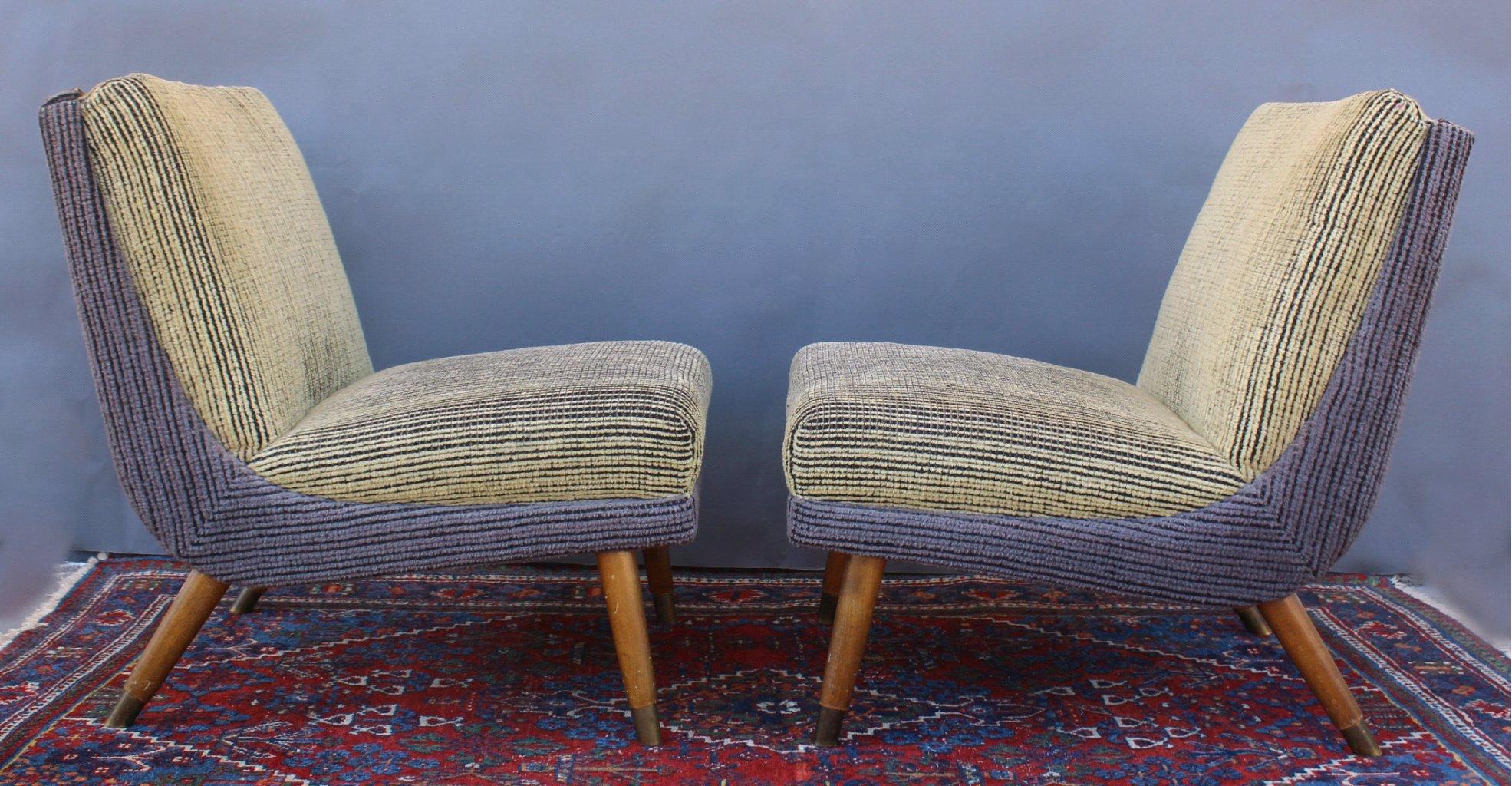 2 sessel aus den 50er jahren badisches auktionshaus for Sessel aus den 50er jahren