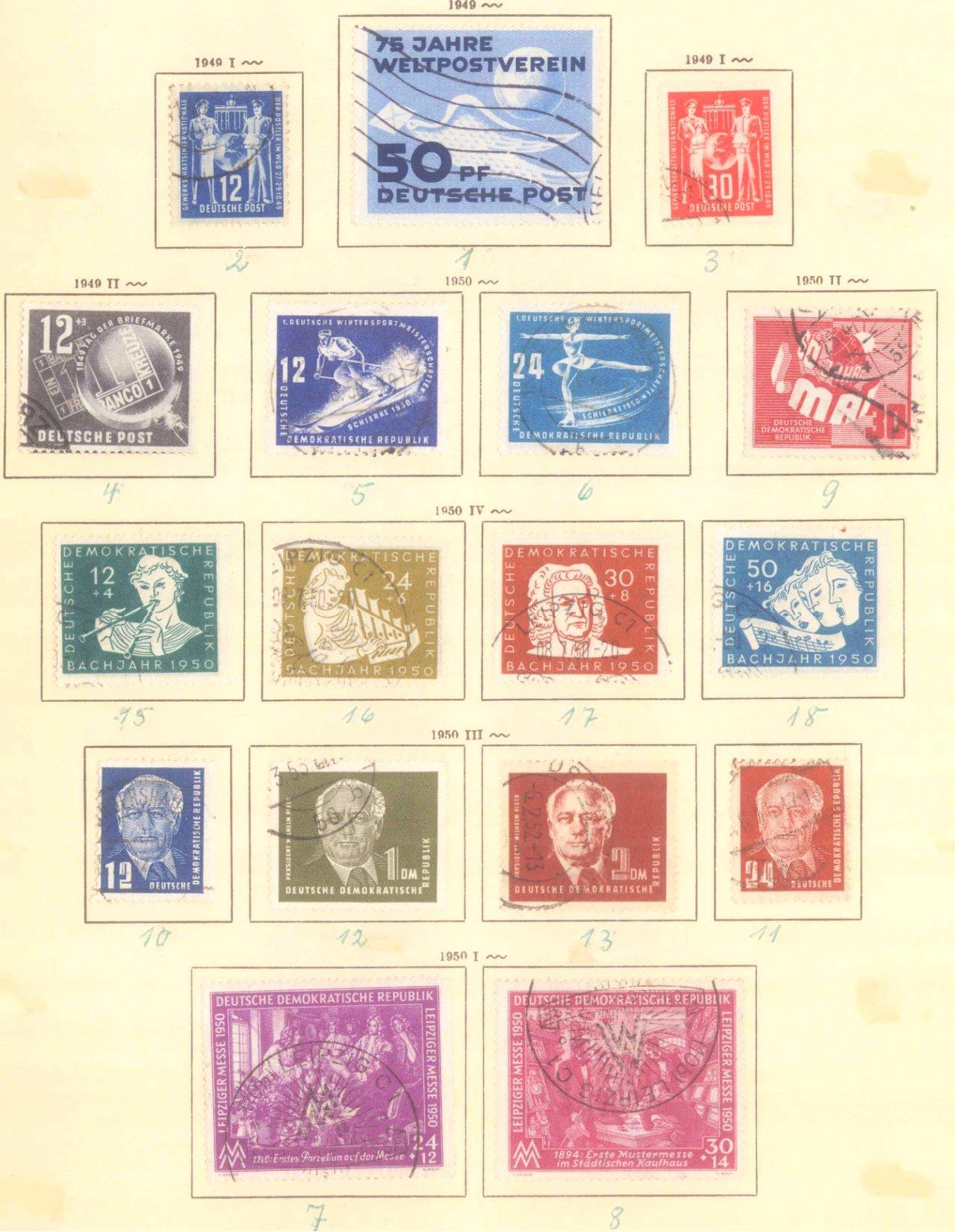 Sammlung DDR 1949-1990 + FDCs, Briefe…-8