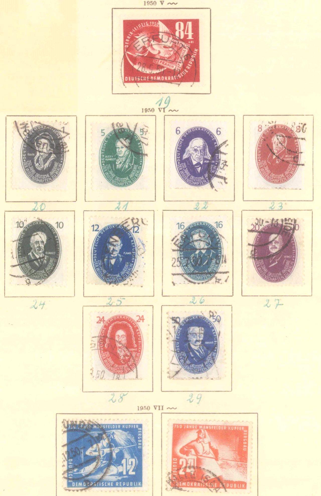 Sammlung DDR 1949-1990 + FDCs, Briefe…-9