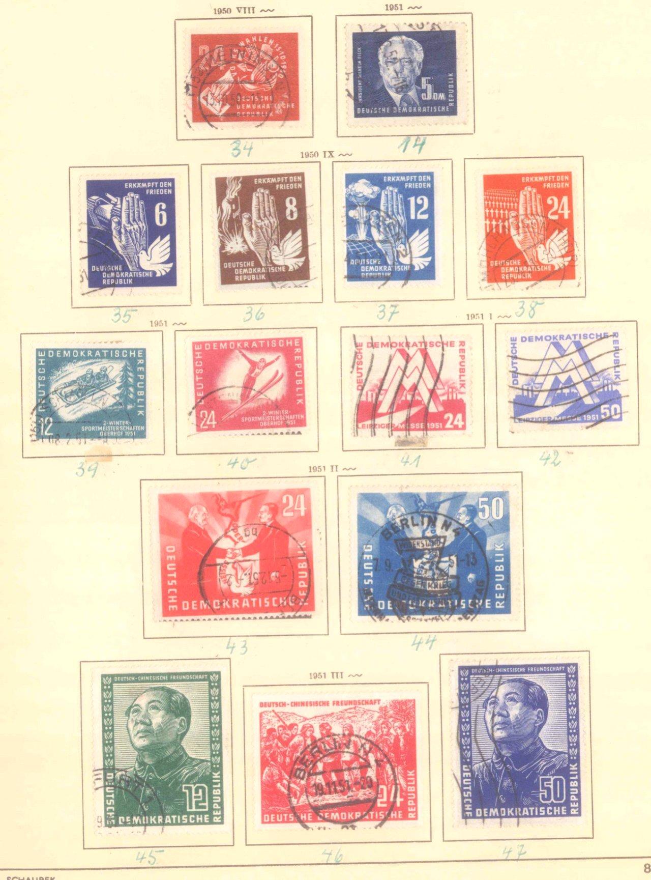 Sammlung DDR 1949-1990 + FDCs, Briefe…-11