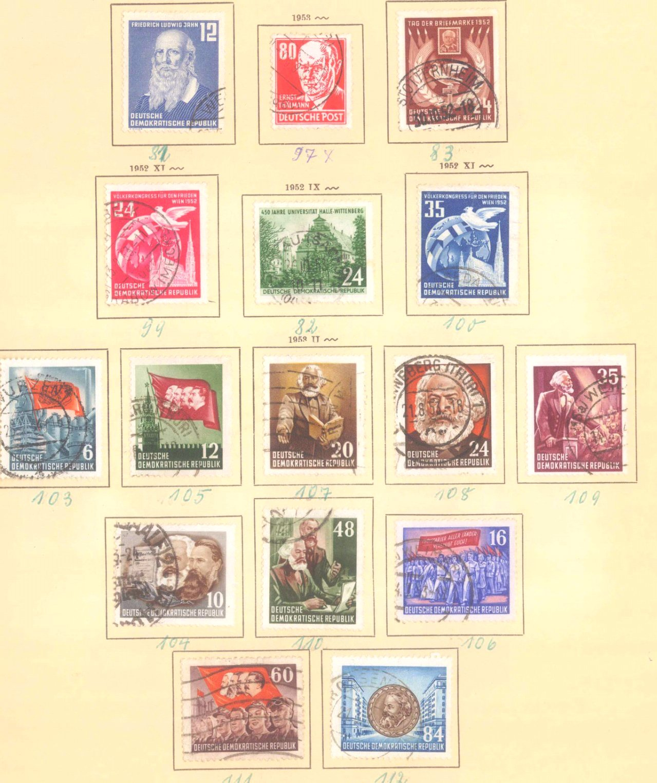 Sammlung DDR 1949-1990 + FDCs, Briefe…-12