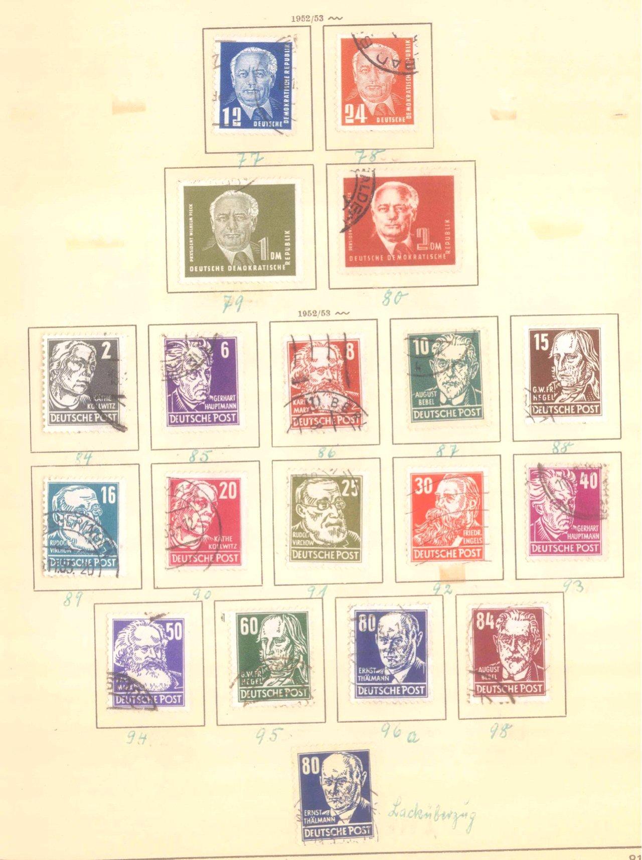 Sammlung DDR 1949-1990 + FDCs, Briefe…-13