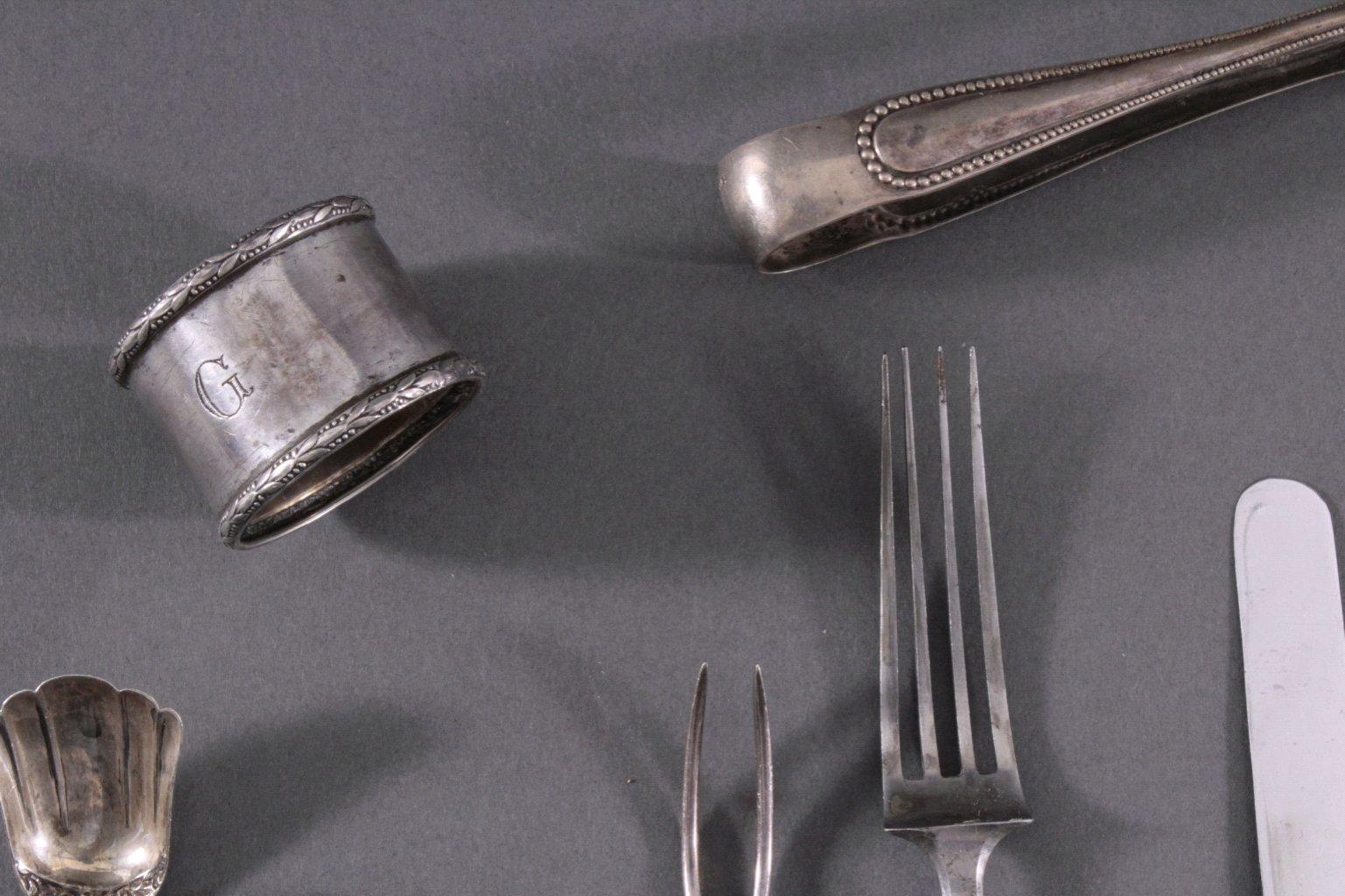 Besteck Konvolut, 13-lötig und 800er Silber-1
