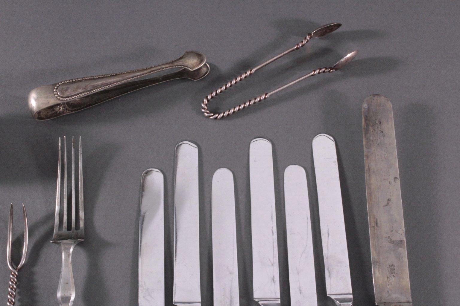 Besteck Konvolut, 13-lötig und 800er Silber-3