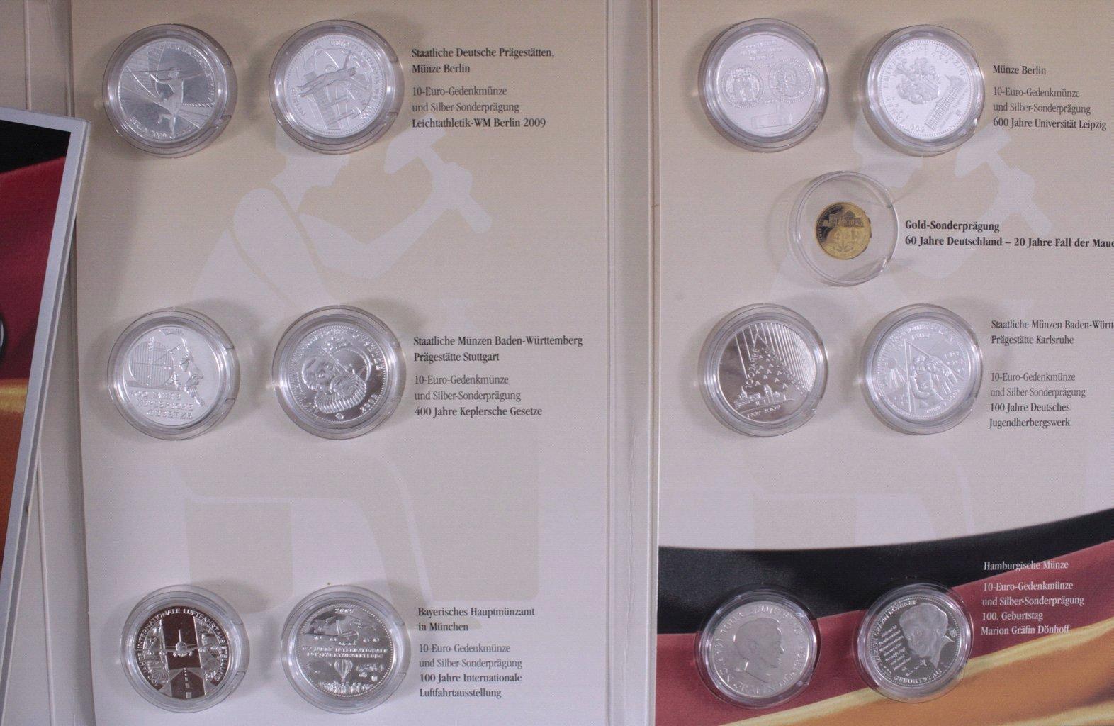 10 Euro Gedenkmünzen 2009 2018 Badisches Auktionshaus