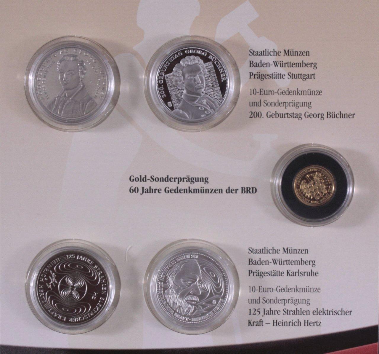 10 Euro Gedenkmünzen Und Sonderprägungen 2013 Mit Gold Badisches