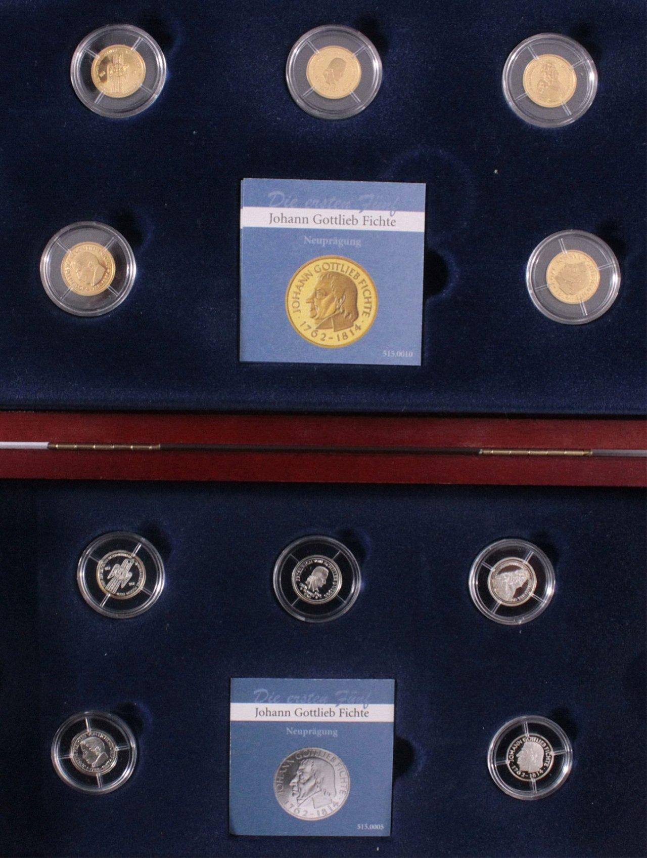 Die Ersten Fünf 5 Dm Münzen In Gold Und Silber Badisches Auktionshaus