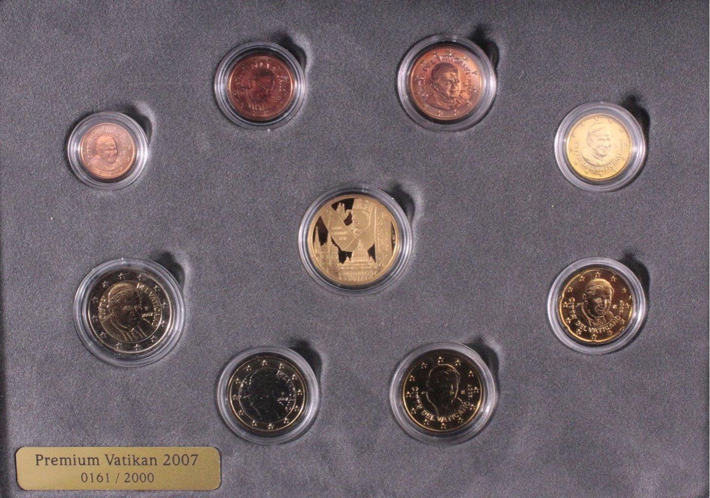 Premium KMS Vatikan 2007 mit Goldmünze
