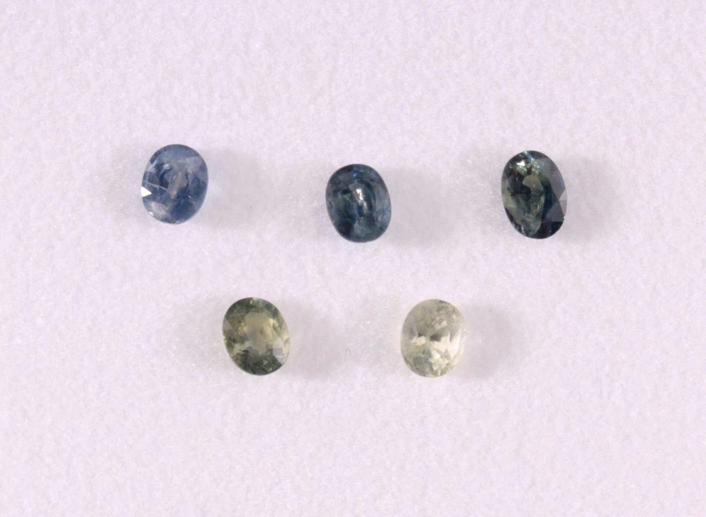 Saphire in unterschiedlichen Farben, 8 Stück
