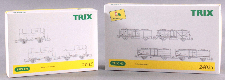 Trix E-Lok 2468 mit Waggons, Spur H0-1