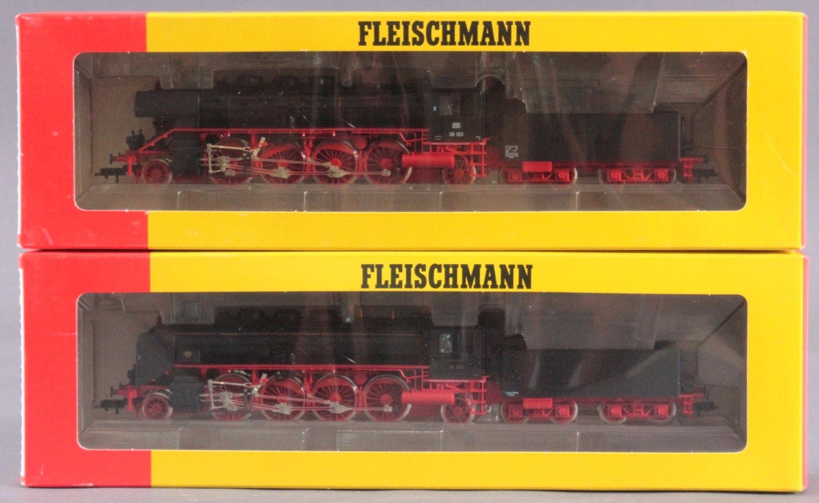 Fleischmann Dampfloks BR 39 103 und BR 39 204 Spur H0-3