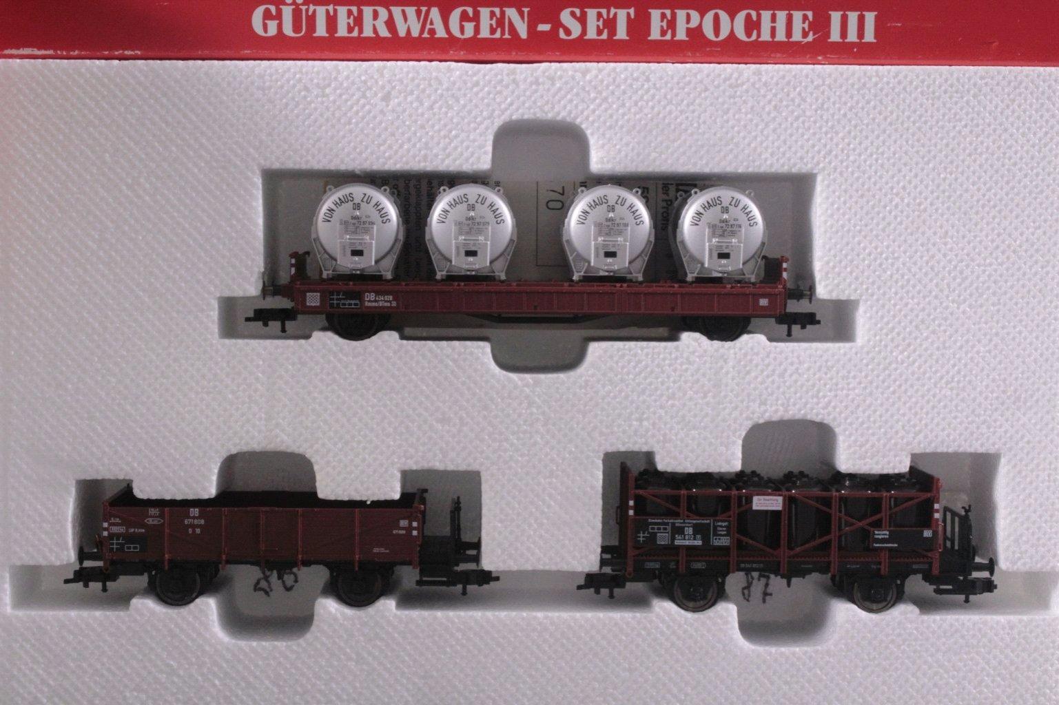 Fleischmann E-Lok mit Güterwagen-Set, Spur H0-2