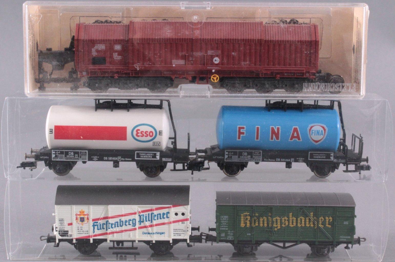 Brawa Dampflok 15 001 Spur H0 mit 4 Waggons-3