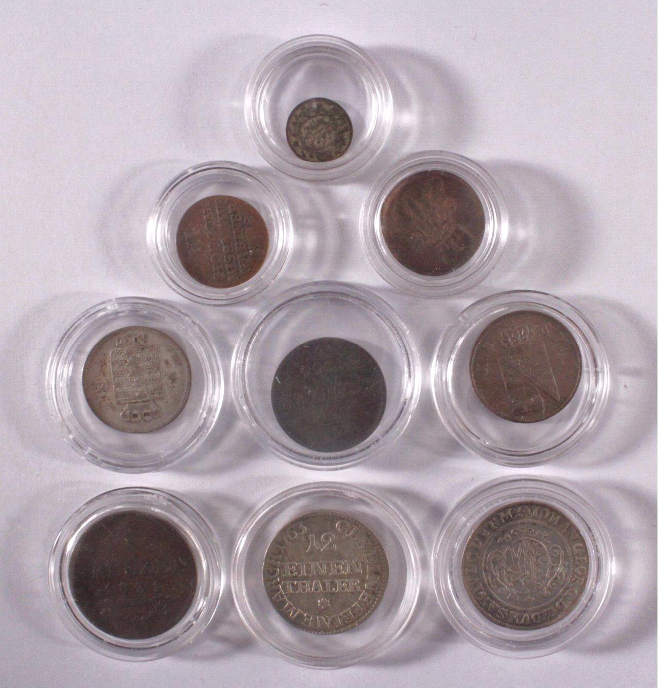 9 Altdeutsche Münzen