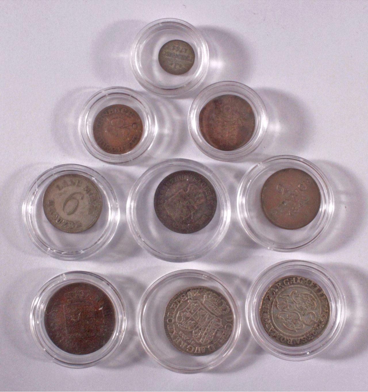 9 Altdeutsche Münzen-1