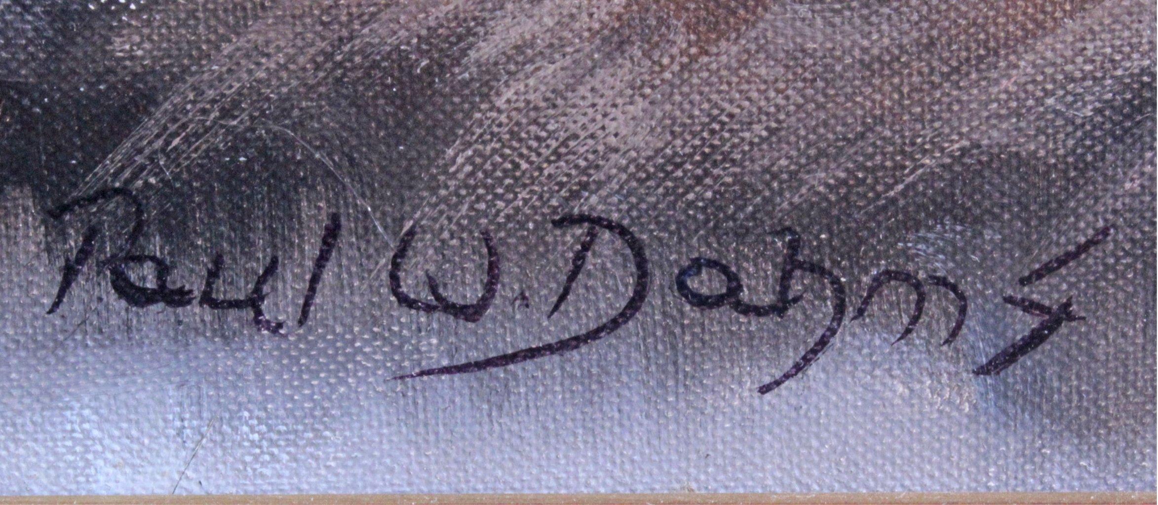 Paul W. Dahms 1913-1988, landende Wildenten im Moor-2