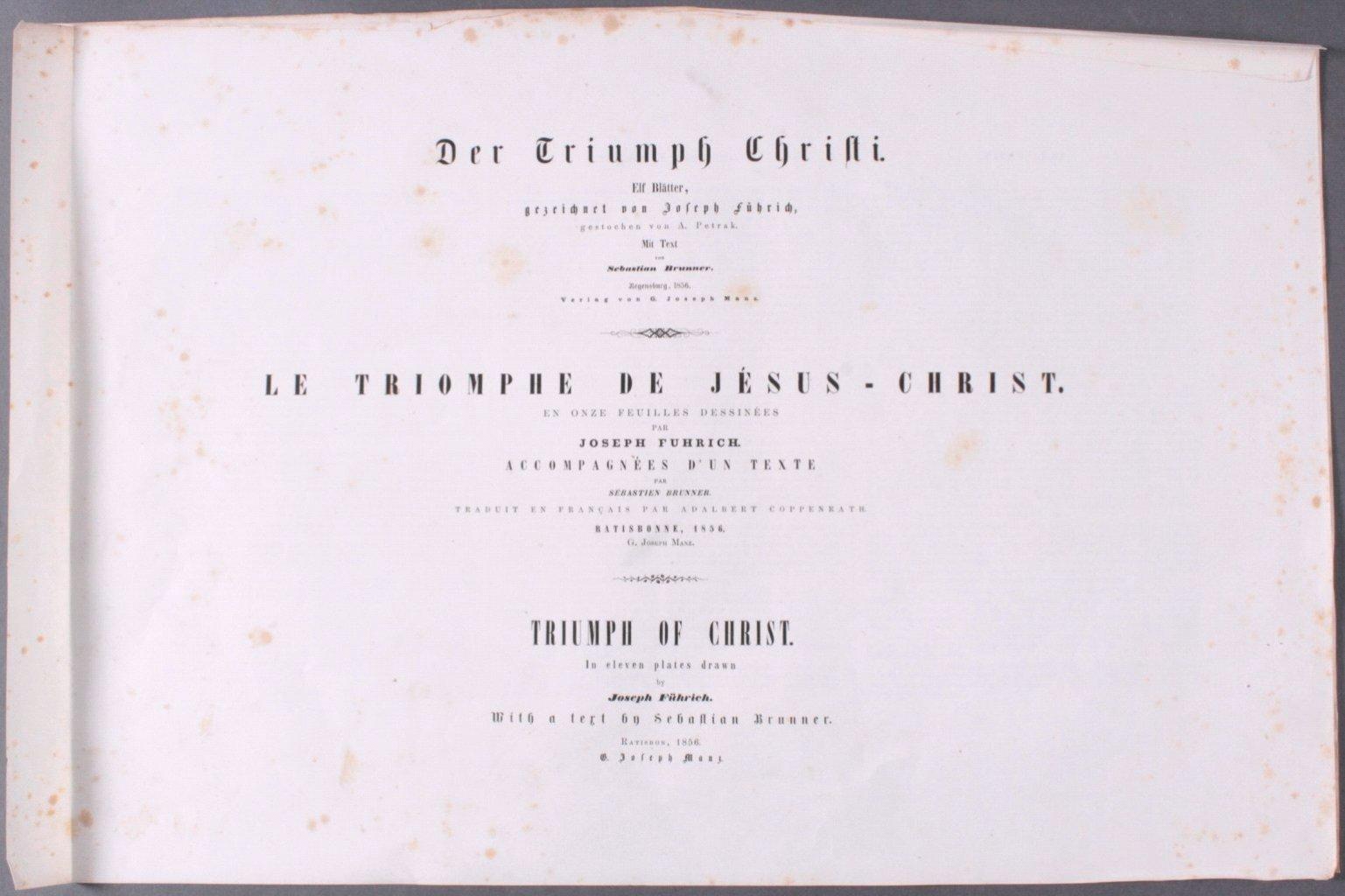 Der Triumph Christi von Joseph Führich, Ratisbon 1856-2