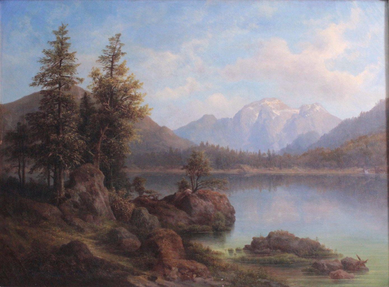 Bergseelandschaft, 19. Jh.