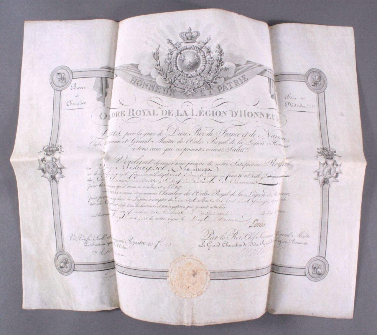 Auszeichnung der französischen Legion an Otto Behaghel