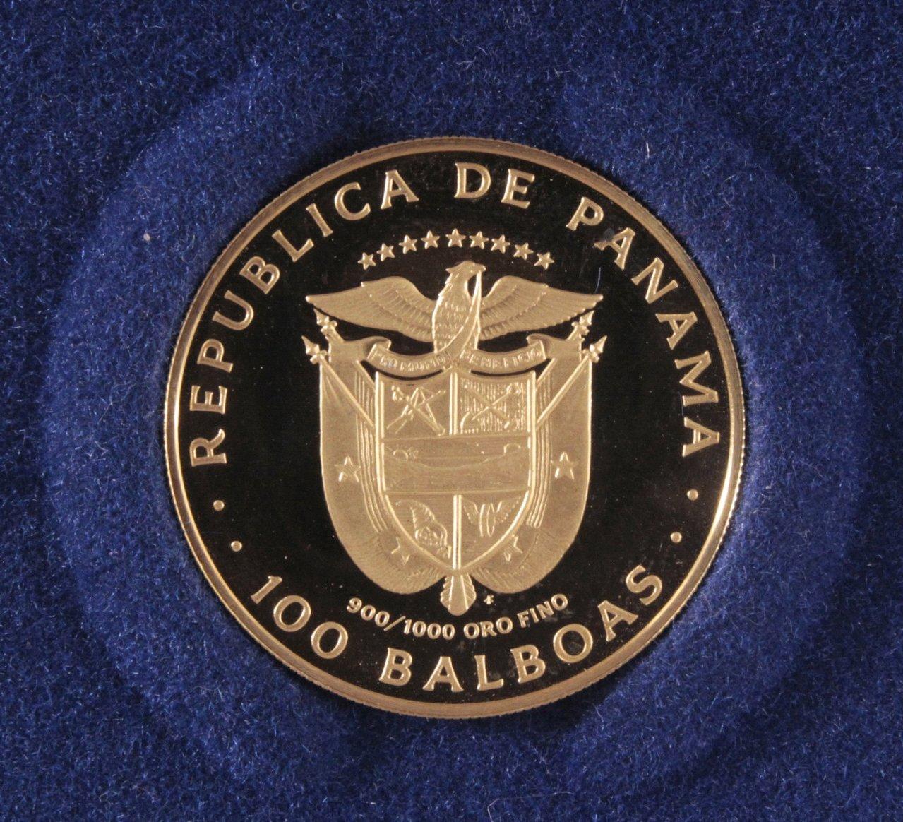 Goldmünze Panama 100 Balboa, Vasco 1975-1