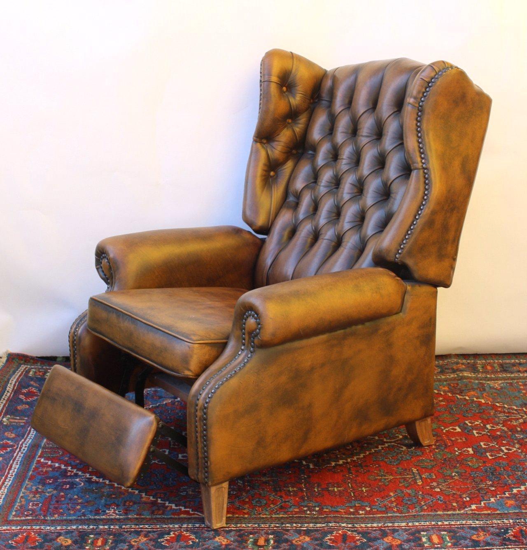 englischer ohrenbackensessel ledersessel chesterfield. Black Bedroom Furniture Sets. Home Design Ideas