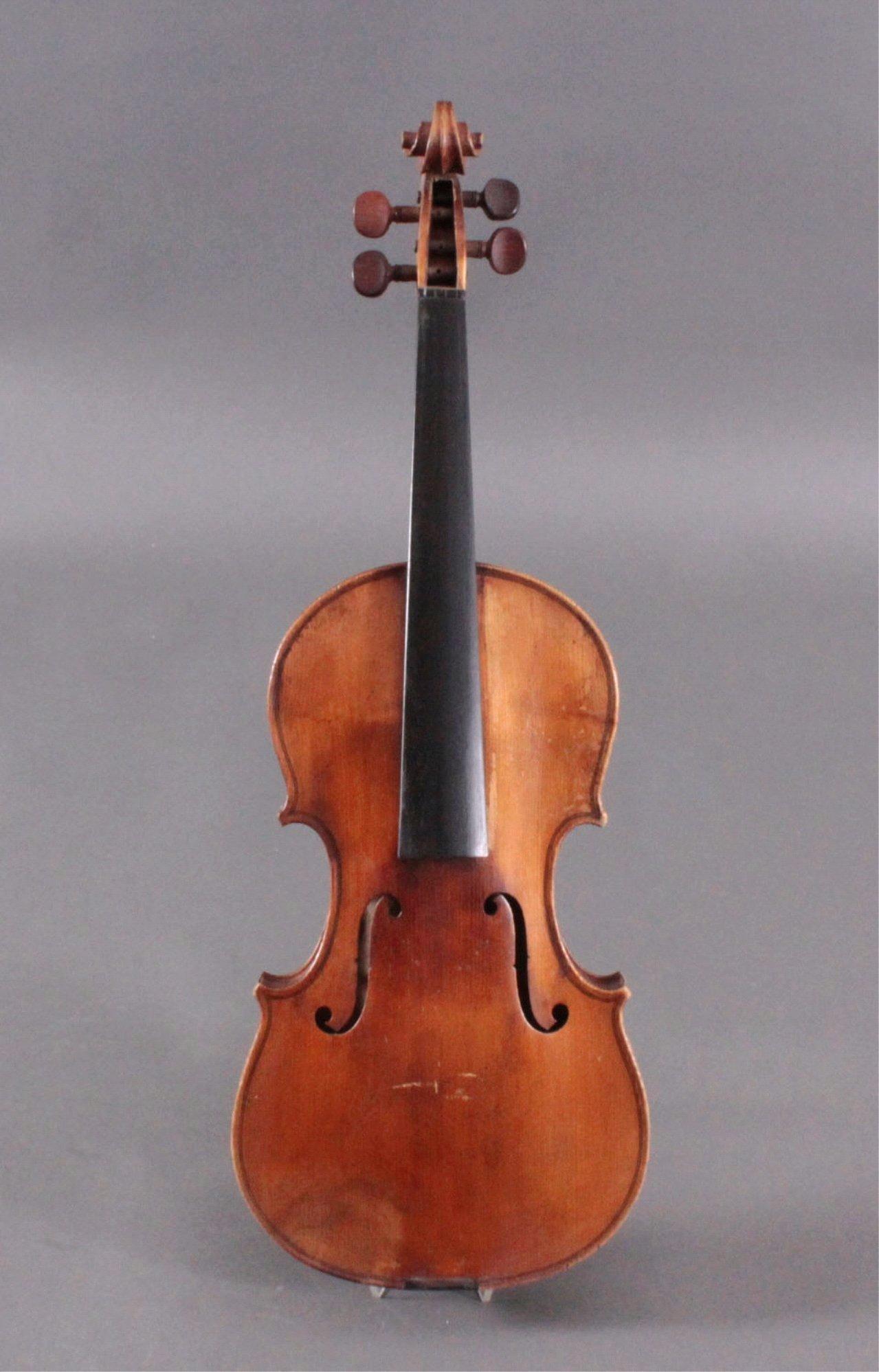 Geige / Violine mit Bogen und Geigenkasten um 1900-2