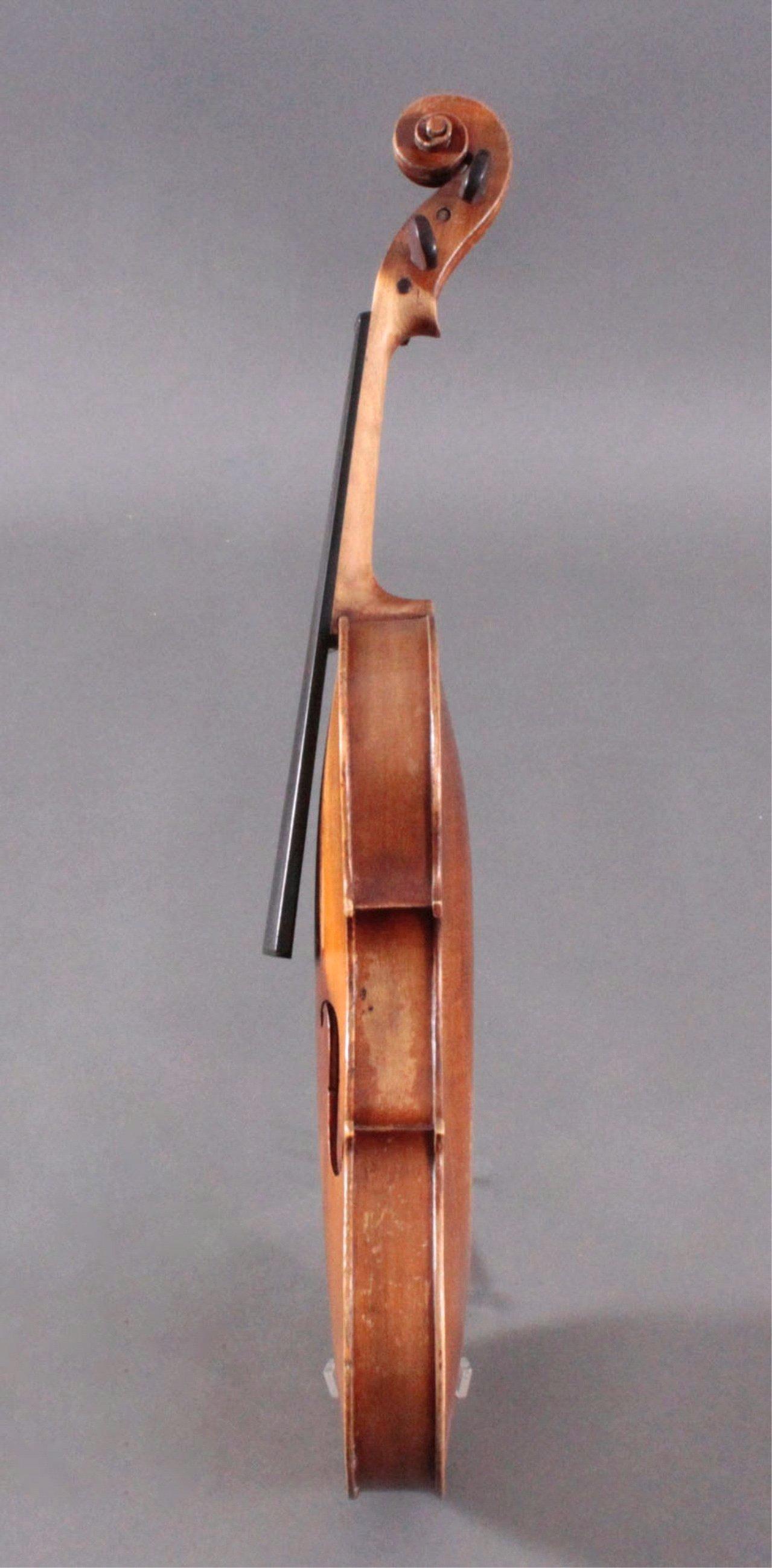 Geige / Violine mit Bogen und Geigenkasten um 1900-6