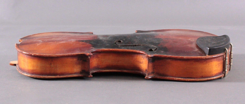 Geige / Violine mit Geigenkasten um 1900-6