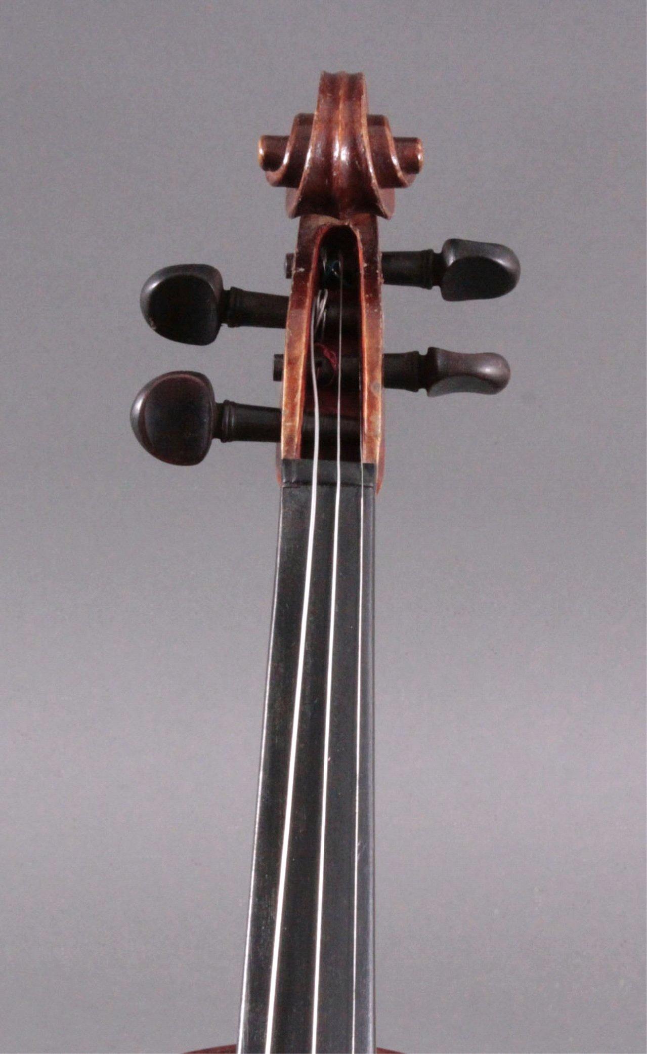 Geige / Violine mit Bogen und Geigenkasten um 1900-3