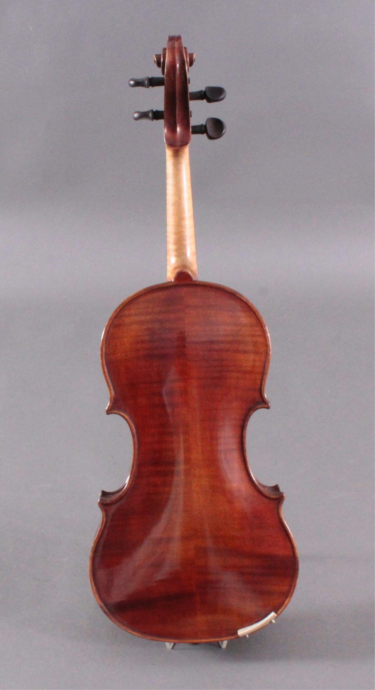 Geige / Violine mit Bogen und Geigenkasten um 1900-5