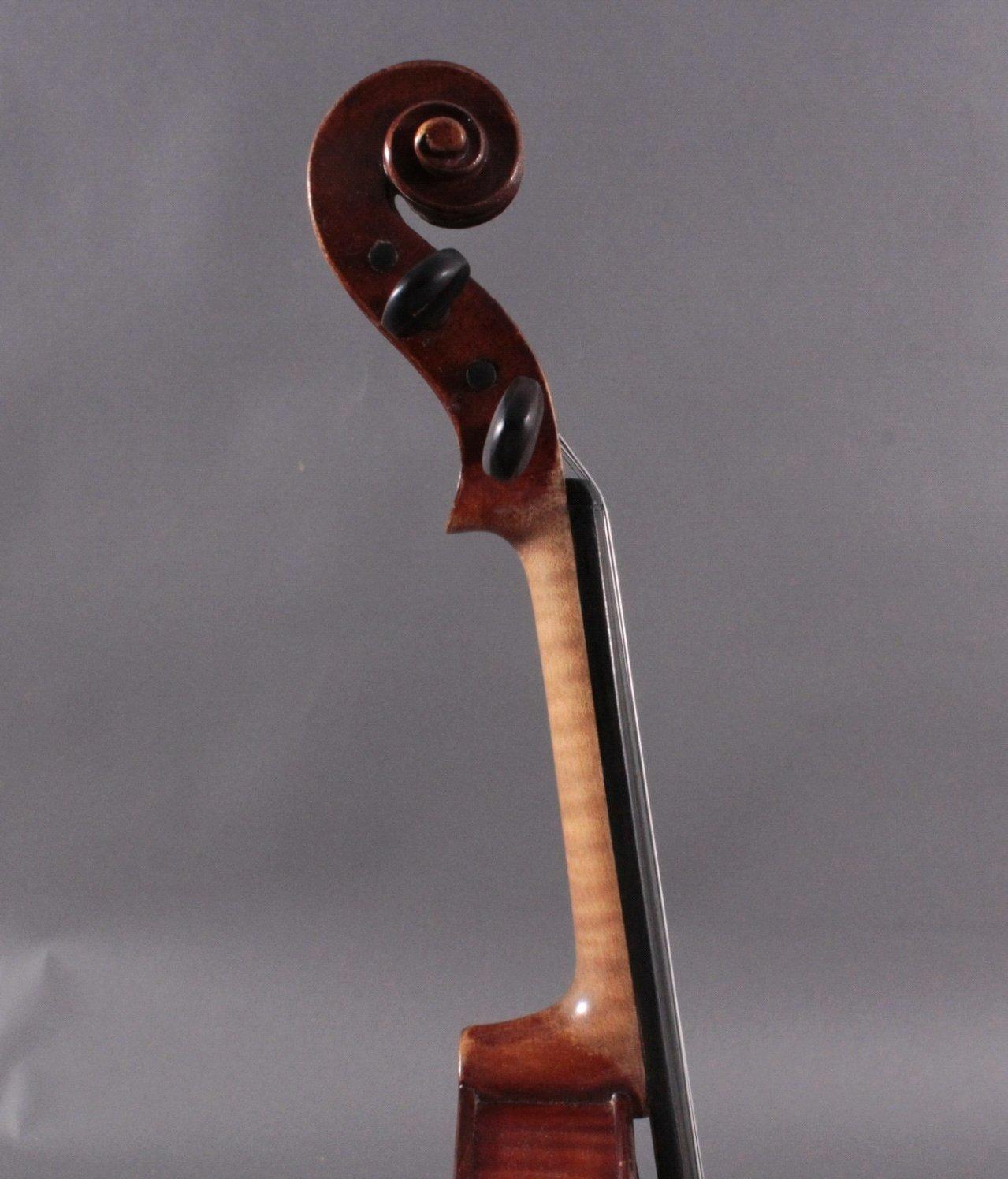 Geige / Violine mit Bogen und Geigenkasten um 1900-7