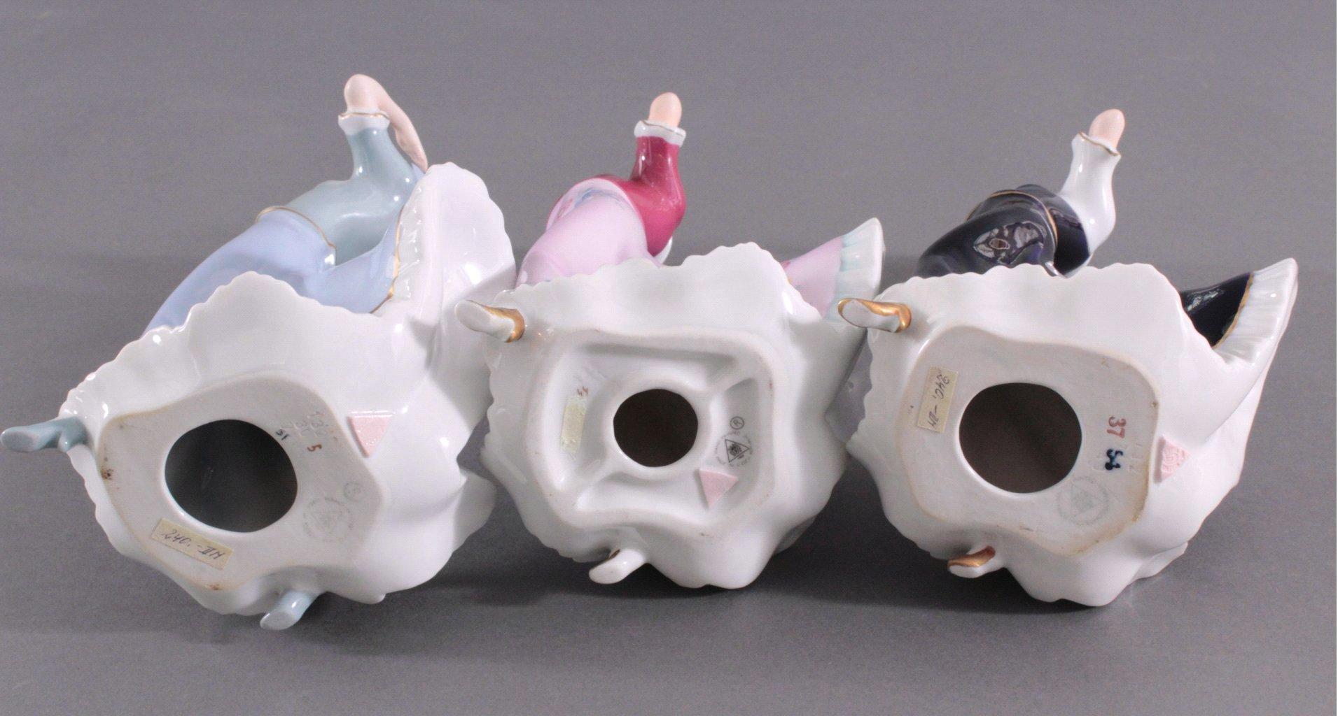 Drei Jugendstill Porzellanfiguren, Royal Dux Bohemia-4