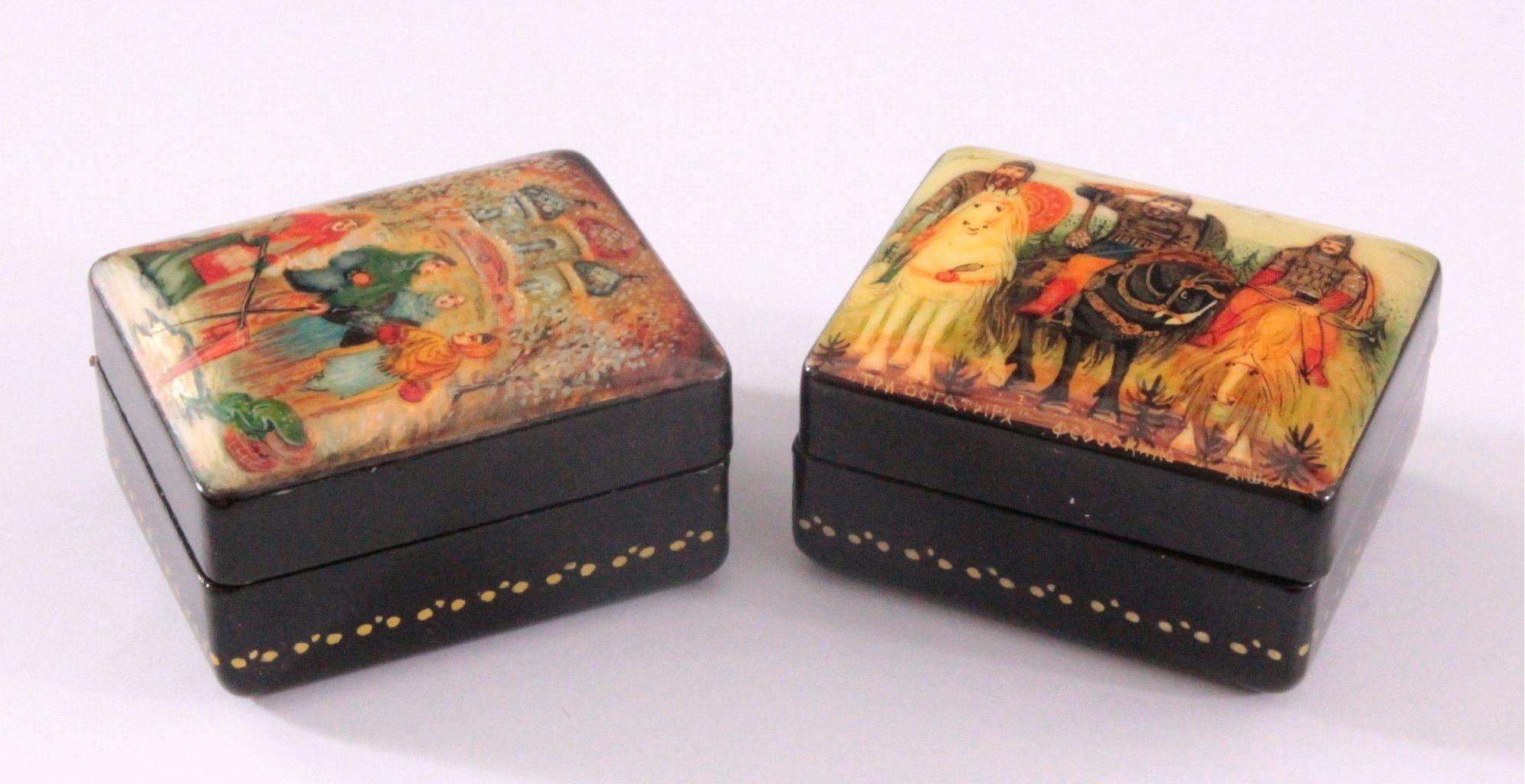 Russische Lackdosen-Miniaturen aus Fedoskino-2