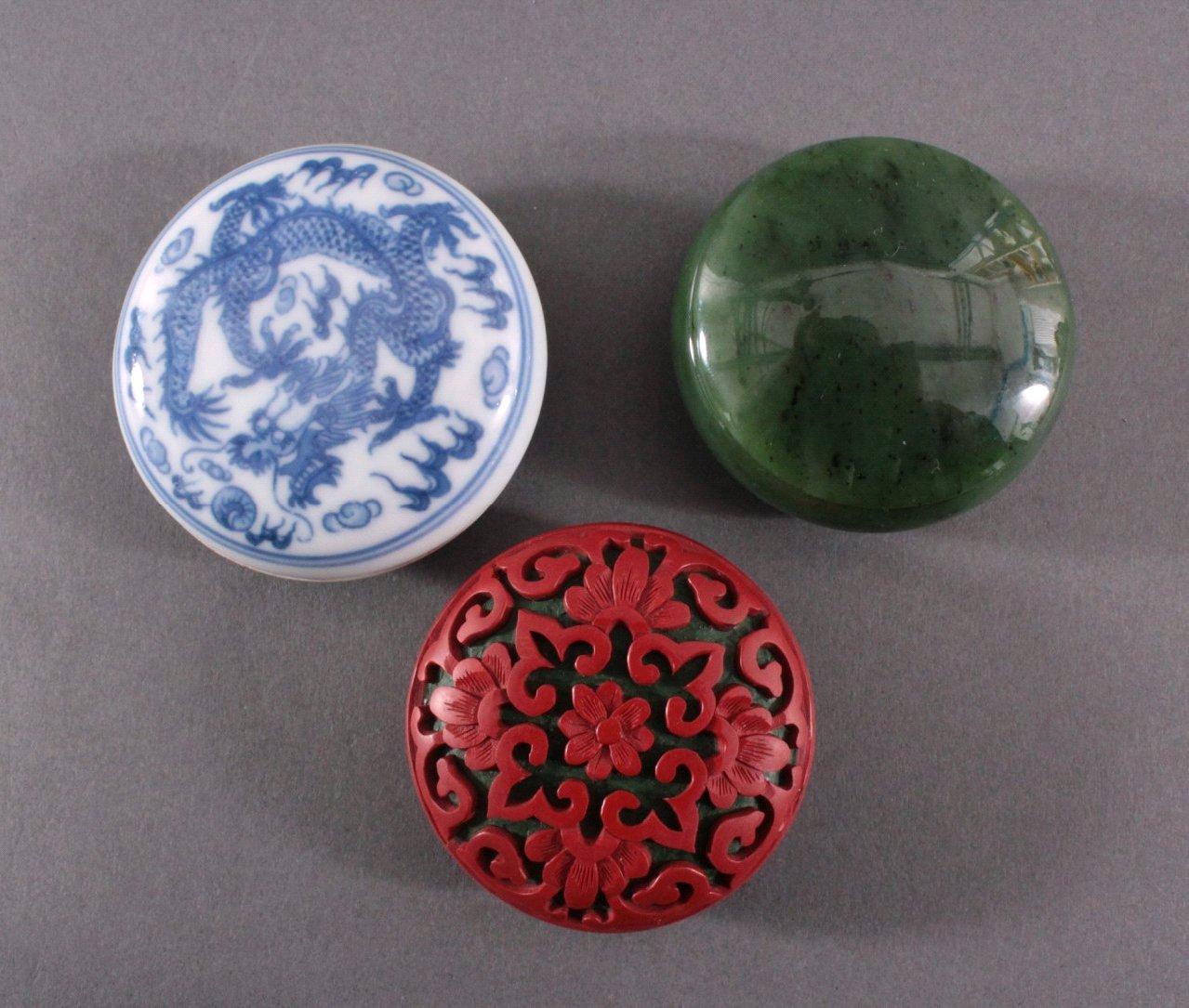 Konvolut Asiatika, Jade, Porzellan, Rotlack-3