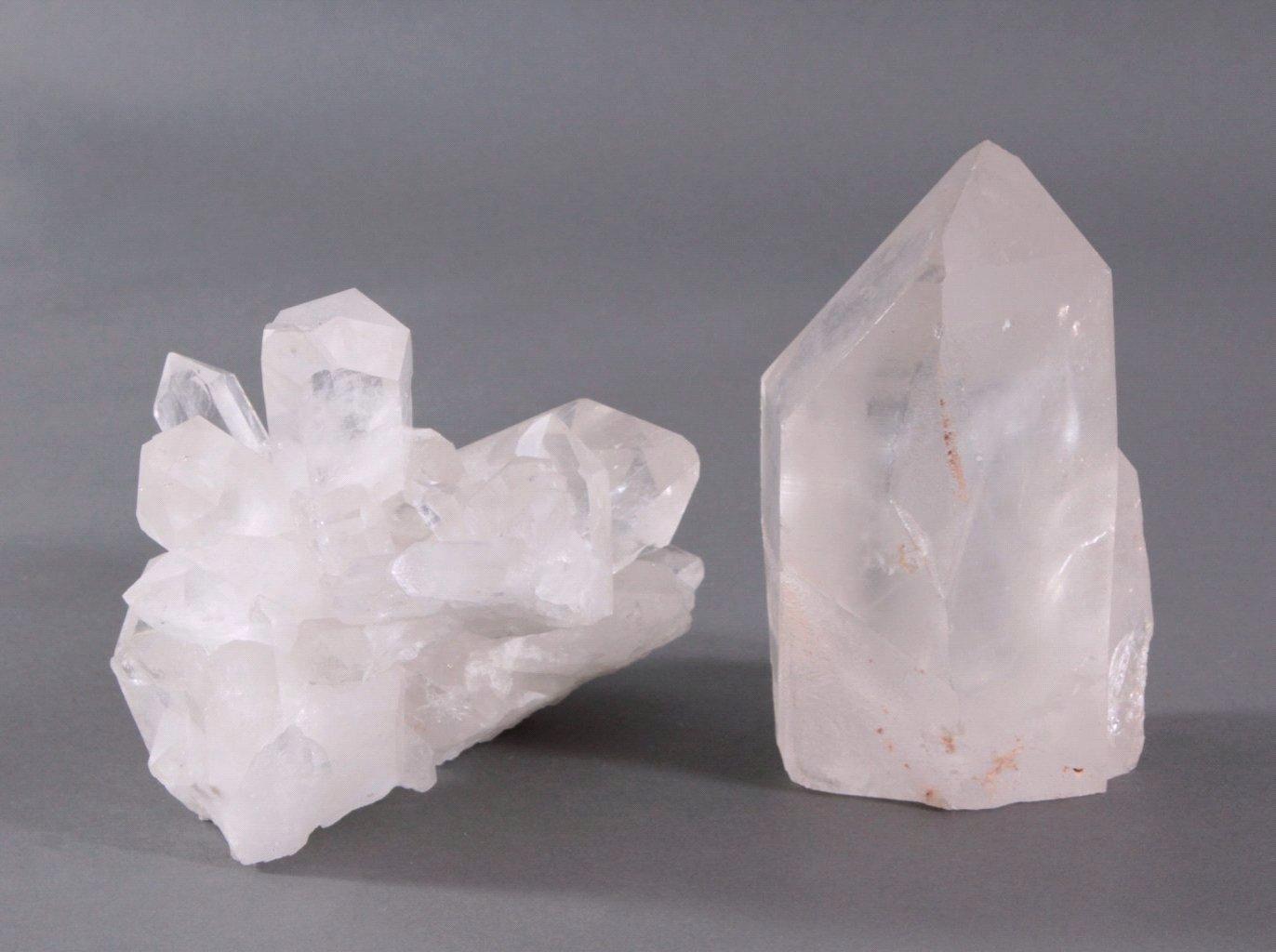 Zwei Bergkristallstufen