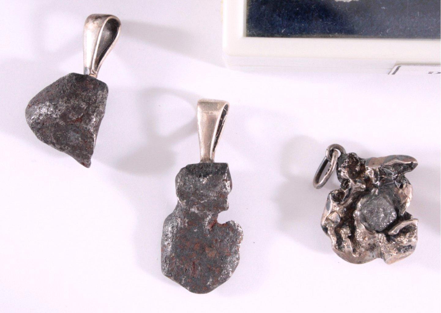 Mineralien-Meteoriten und Diamanten-Kristalle, 14 Stück-2