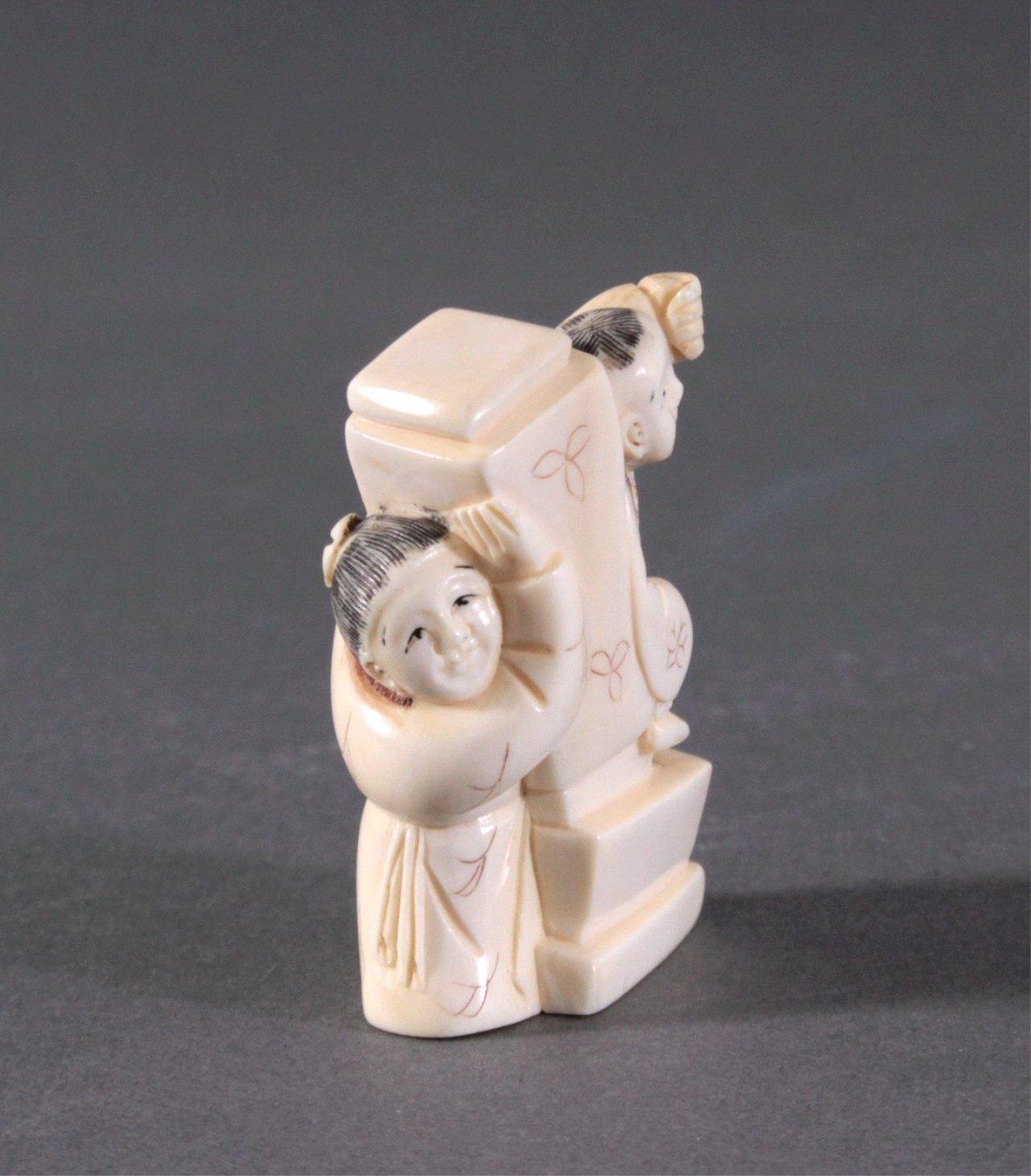 Netsuke, Japan 1. Hälfte 20. Jh., Elfenbein geschnitzt-4
