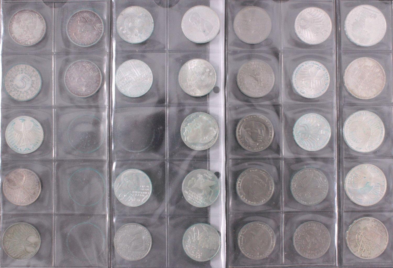 Kleine Sammlung 5 Und 10 Dm Münzen Badisches Auktionshaus