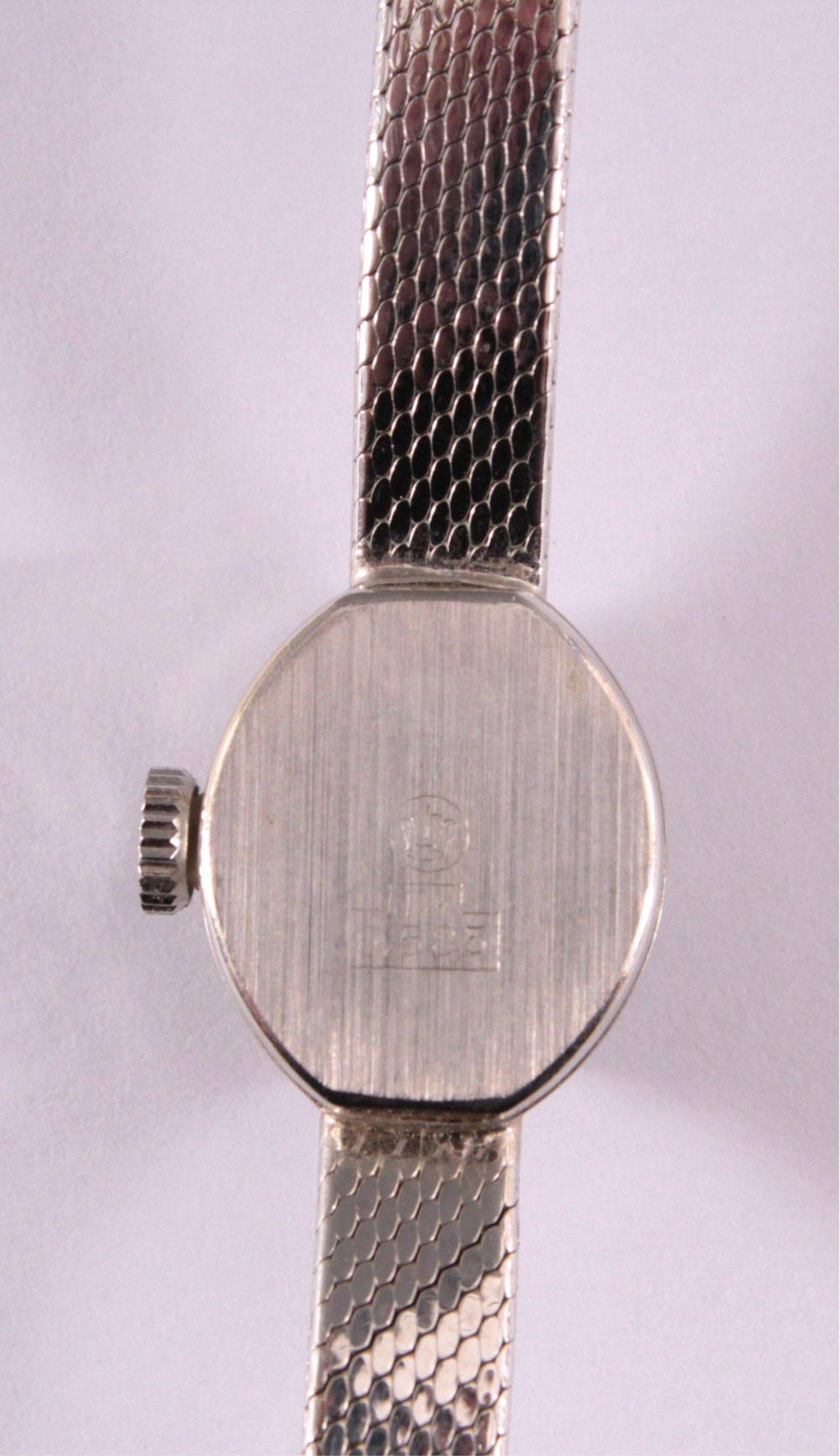 Roxy Anker Damenarmbanduhr, 14 Karat Weißgold-3